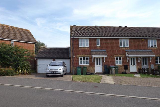 Thumbnail End terrace house to rent in Kettle Drive, Hawkinge, Folkestone
