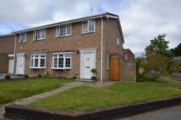 Thumbnail Semi-detached house for sale in Cheviot Close, Farnborough