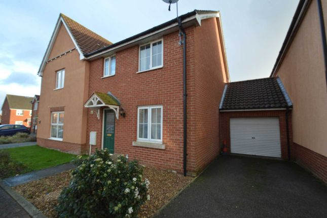 Thumbnail Semi-detached house to rent in Fresher Mews, Norwich