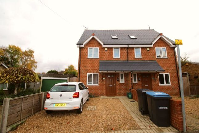 Thumbnail Semi-detached house to rent in Armstrong Road, Englefield Green, Egham