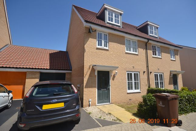 Thumbnail Semi-detached house to rent in Foundation Way, Colchester
