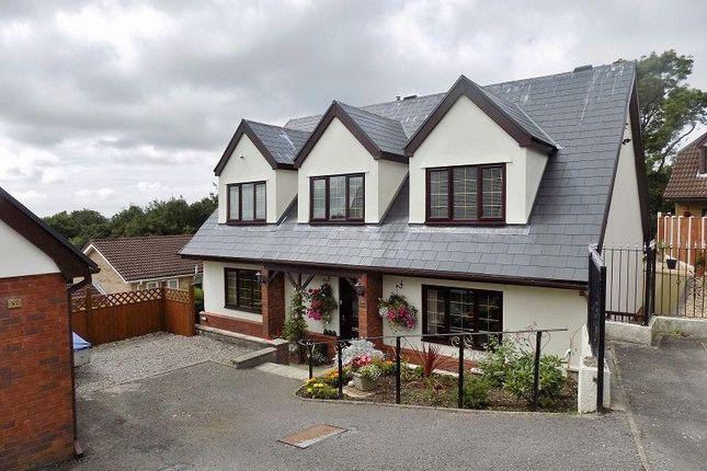 Thumbnail Detached house for sale in The Woodlands, Brackla, Bridgend.