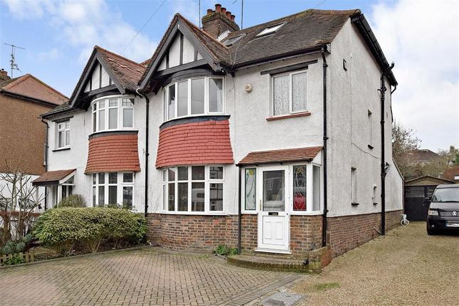 Thumbnail Semi-detached house for sale in Carden Avenue, Patcham, Brighton, East Sussex