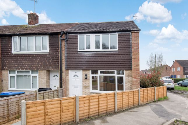 Thumbnail End terrace house for sale in Highclere Gardens, Knaphill, Woking