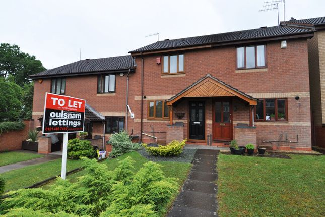 Thumbnail Terraced house to rent in Heron Close, Alvechurch, Birmingham