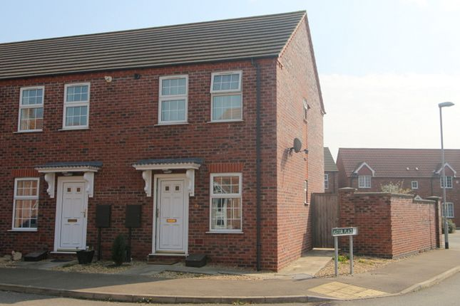 Thumbnail End terrace house to rent in Westside, Spalding