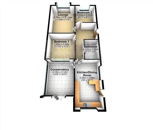 Floor Plan of Woodland Drive, Poulton Le Fylde FY6