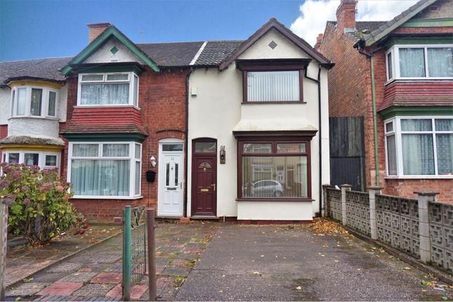 Thumbnail End terrace house for sale in Ilsley Road, Birmingham