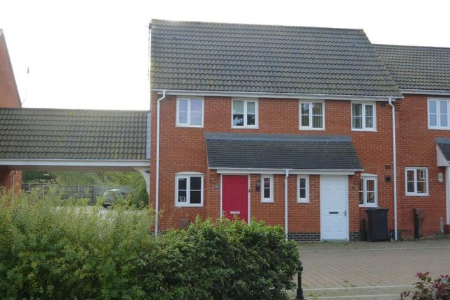 Thumbnail End terrace house to rent in Selway Drive, Bury St. Edmunds