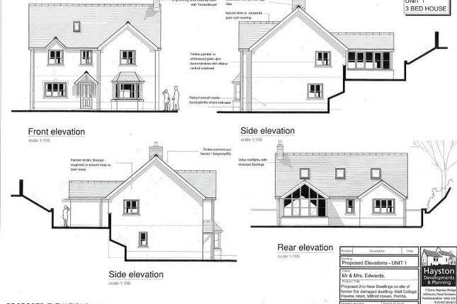 Proposed Plot 1 of Plot 1 And Plot 2, Well Cottage, Liddeston Road, Havens Head SA73