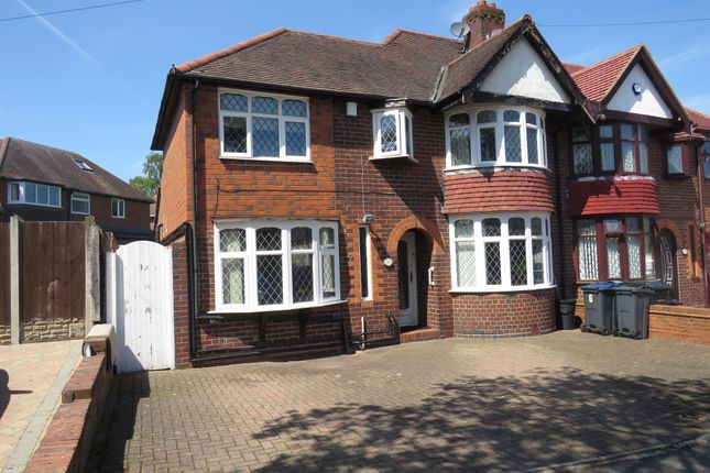 Thumbnail Semi-detached house for sale in Lloyd Road, Handsworth Wood, Birmingham