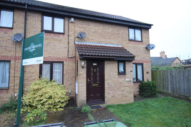 Thumbnail 2 bed end terrace house to rent in Badgers Close, Flitwick