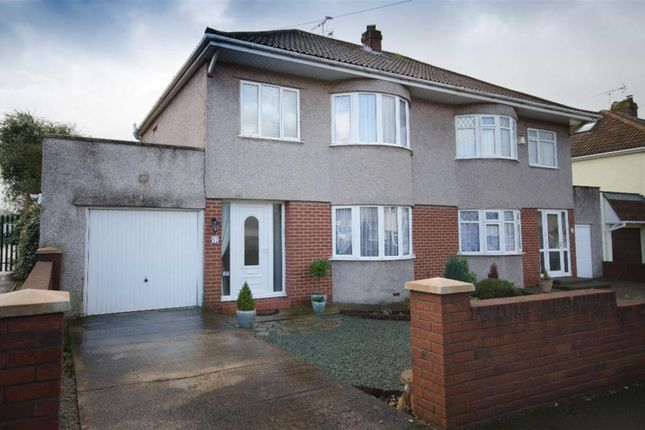 Thumbnail Semi-detached house for sale in Stockwell Drive, Mangotsfield, Bristol