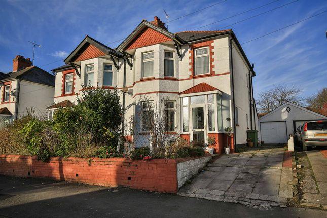 Thumbnail Semi-detached house for sale in Rhydypenau Road, Cyncoed, Cardiff