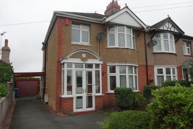 Thumbnail Semi-detached house to rent in Pendyffryn Road, Rhyl