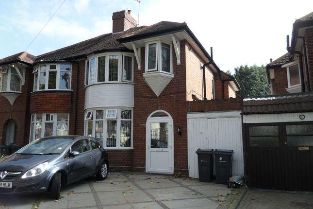 Thumbnail Semi-detached house to rent in Rymond Road, Hodge Hill, Birmingham