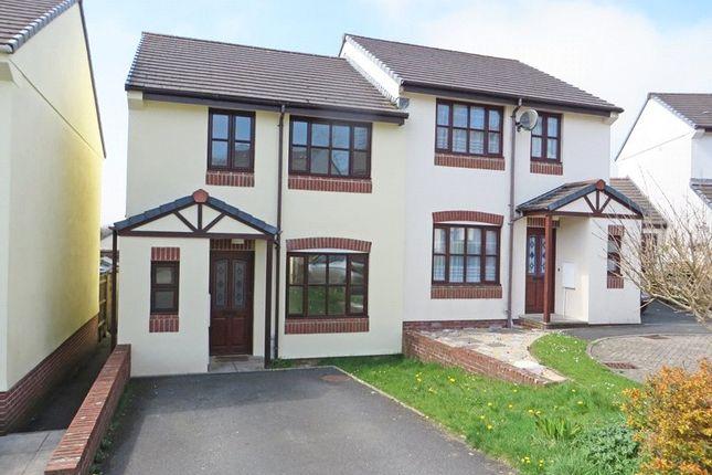 Thumbnail Semi-detached house to rent in Great Oak Meadow, Holsworthy