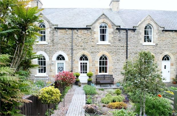 Thumbnail Terraced house for sale in Hollinside Terrace, Lanchester, County Durham.