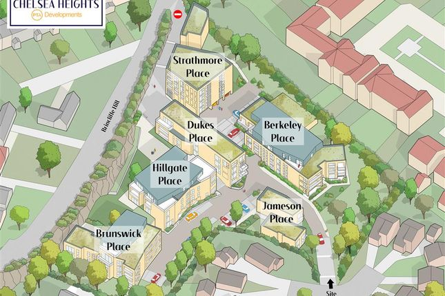 Site Plan of Strathmore Place, Chelsea Heights, Brincliffe Hill, Sheffield S11