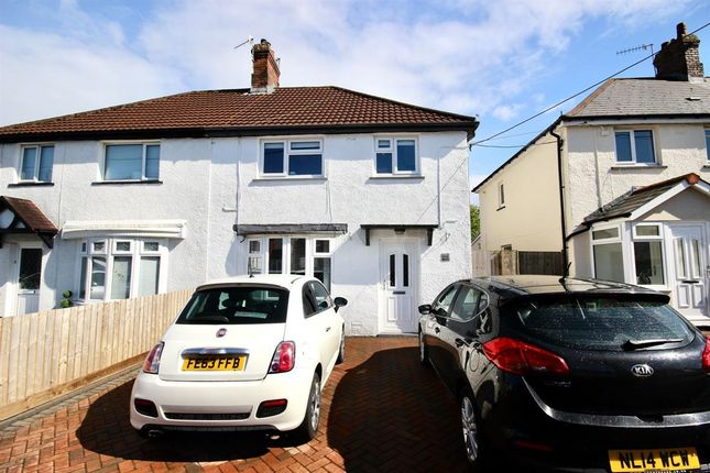 Thumbnail Semi-detached house for sale in Celyn Avenue, Caerphilly