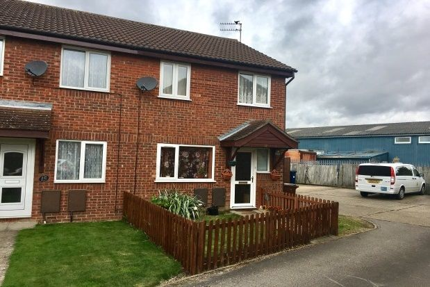 Thumbnail End terrace house to rent in Kingfisher Close, Chatteris