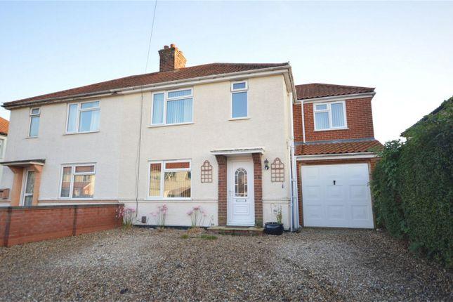 Thumbnail Semi-detached house for sale in Harlington Avenue, Hellesdon, Norwich