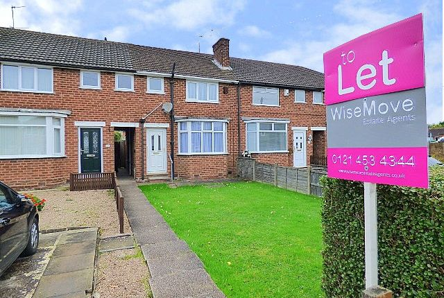 Thumbnail Terraced house to rent in Wolverton Road, Rednal