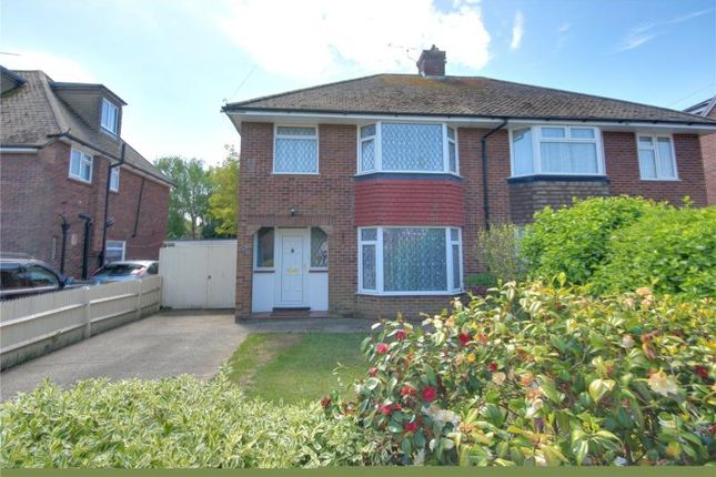 Thumbnail Semi-detached house for sale in Raleigh Crescent, Goring By Sea, West Sussex