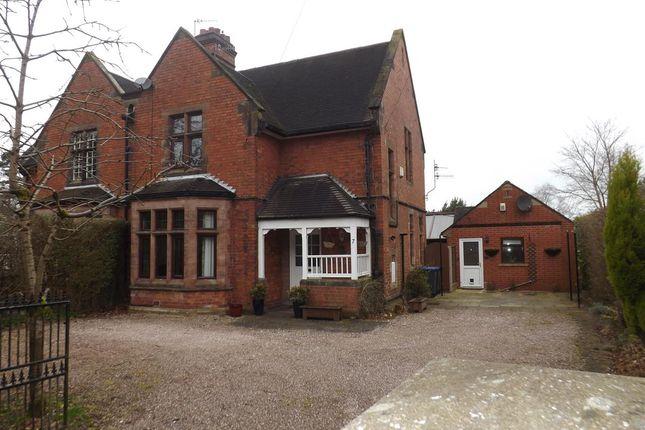 Thumbnail Semi-detached house for sale in Villa Road, Cheddleton, Leek