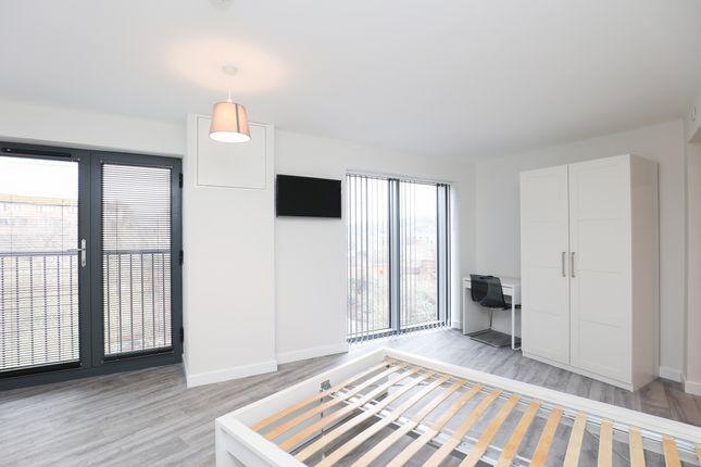 Bedroom of Ashtons Studios, Well Meadow Street, City Centre S3