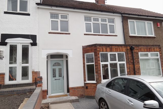 Thumbnail Terraced house to rent in Donnington Avenue, Coventry