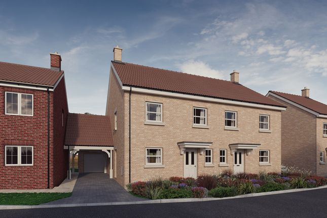 Thumbnail Semi-detached house for sale in Plot 12, 'the Chancellors', Bedford Road, Moggerhanger