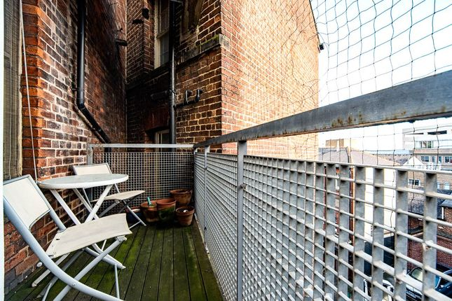 Balcony of Mazda Building, 4 St. Peters Close, Sheffield, South Yorkshire S1