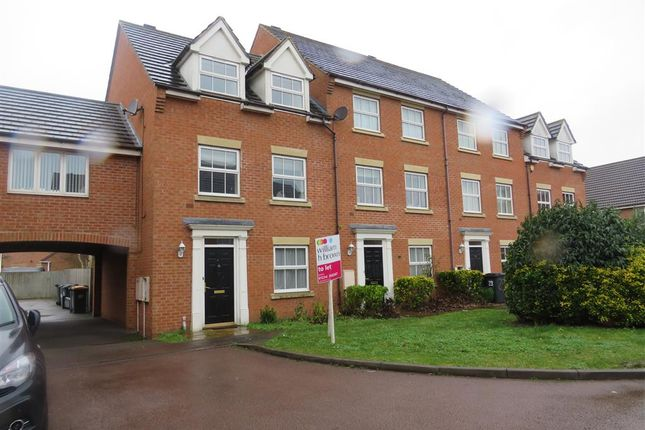 Thumbnail Town house for sale in Croyland Drive, Elstow, Bedford