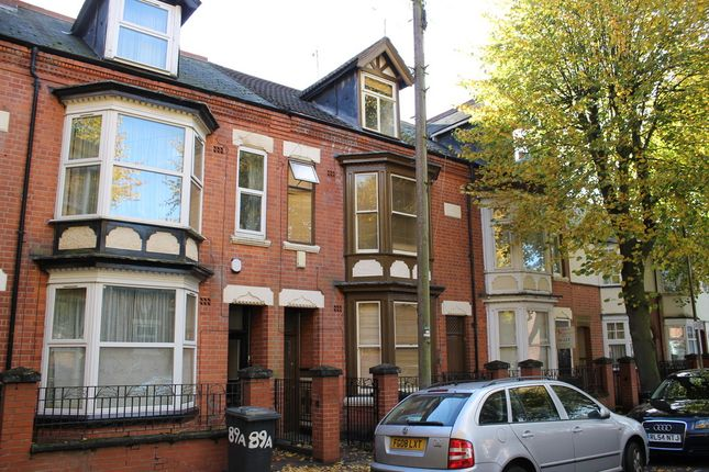 Thumbnail Town house to rent in Brazil Street, Leicester