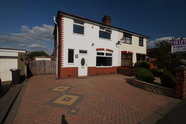 Thumbnail Semi-detached house to rent in Tempest Road, Lostock, Bolton
