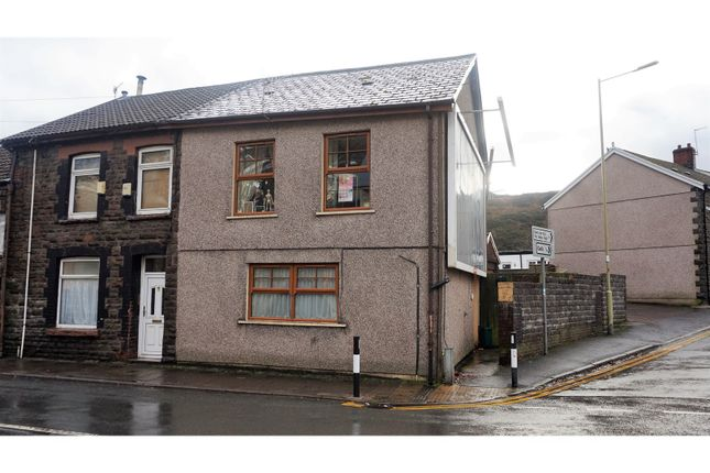 Thumbnail End terrace house for sale in Ystrad Road, Pentre