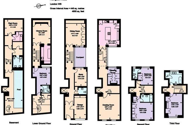 Thumbnail Town house for sale in Pater Street Kensington W8, London,