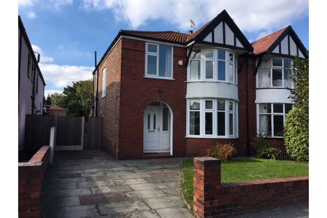 Thumbnail Semi-detached house for sale in Parrs Wood Road, Didsbury