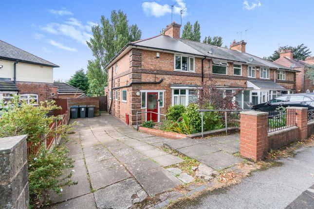 Thumbnail End terrace house for sale in Tennal Road, Birmingham