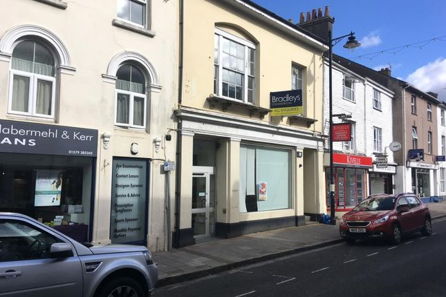 Thumbnail Commercial property for sale in Fore Street, Callington, Cornwall