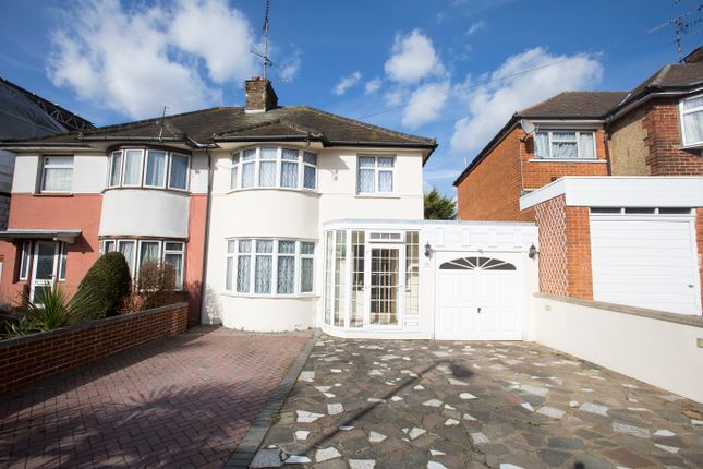 Thumbnail Semi-detached house for sale in Wykeham Hill, Wembley