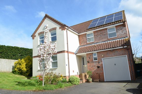 Thumbnail Detached house for sale in Barns Close, Bradninch, Exeter
