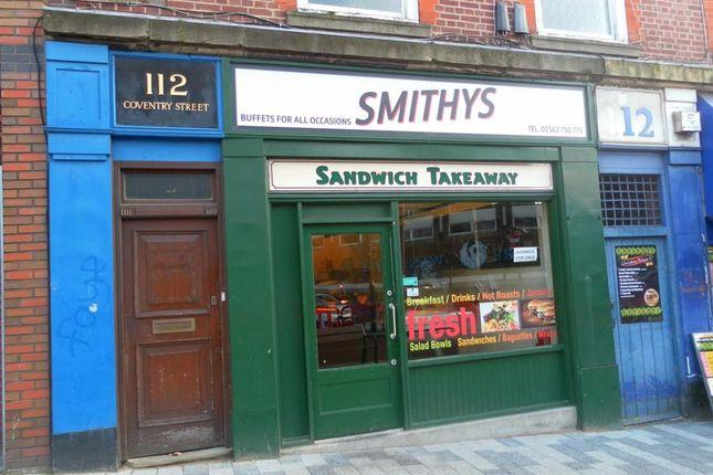 Thumbnail Restaurant/cafe for sale in Coventry Street, Kidderminster
