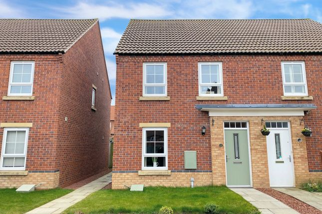 Thumbnail Semi-detached house for sale in Forge Close, Cayton, Scarborough