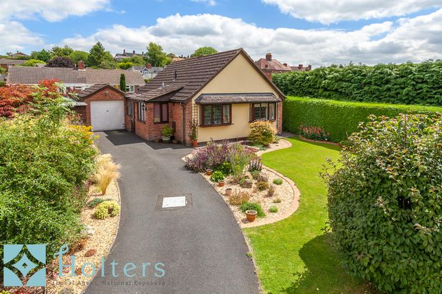 Thumbnail Detached bungalow for sale in Fishmore Close, Ludlow