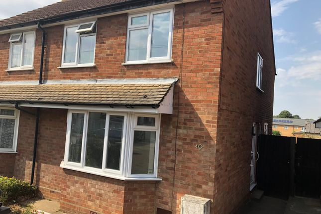 Thumbnail Semi-detached house to rent in Bradley Road, Luton