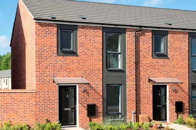 Thumbnail Town house for sale in Abbey Meadows, Leicester
