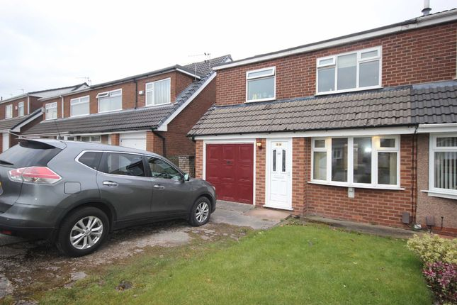 Thumbnail Semi-detached house to rent in Lymefield Drive, Worsley, Manchester