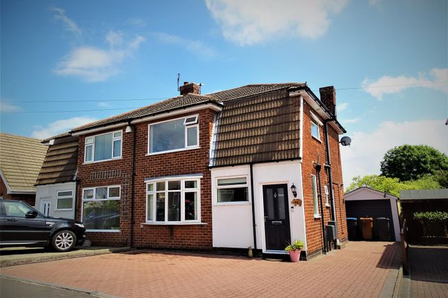 Thumbnail Semi-detached house for sale in Parklands Avenue, Groby, Leicester